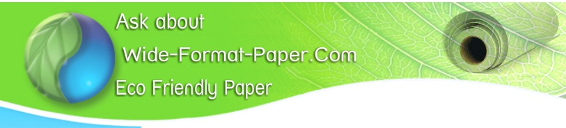 Wide Format Copy Paper Recycled Bond 20lb Eco Friendly
